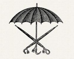 Umbrella clipart vintage