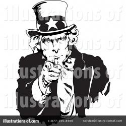Uncle Sam clipart black and white