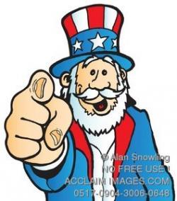 Uncle Sam clipart cute