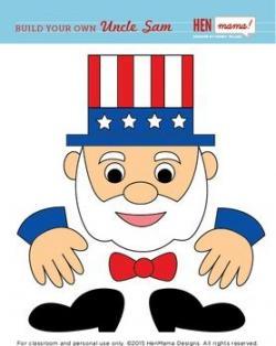 Uncle Sam clipart face