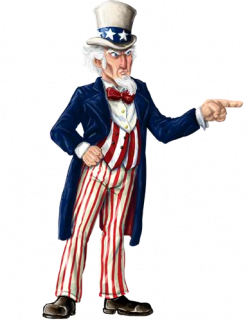 Uncle Sam clipart finger