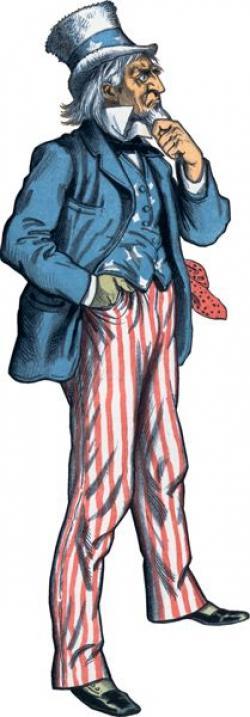 Uncle Sam clipart full body