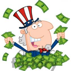 Uncle Sam clipart pay tax