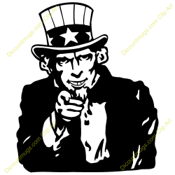 Uncle Sam clipart vector