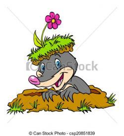 Mole clipart head
