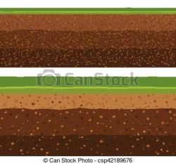 Underground clipart soil layer