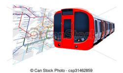 Underground clipart tube train