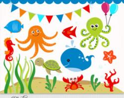 The Sea clipart underwater