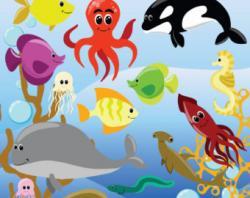 Flippers clipart ocean creature