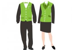 Uniform clipart hotel employee
