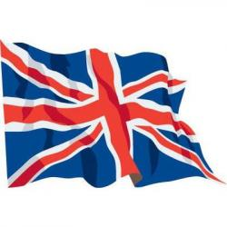 Union Jack clipart flying
