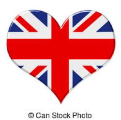 Union Jack clipart heart