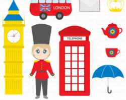 Union Jack clipart london guard