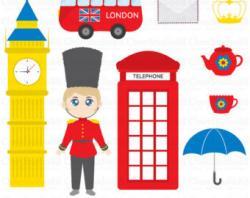 Union Jack clipart london guard