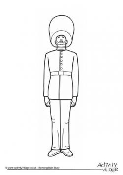 Union Jack clipart queen's guard