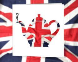 Union Jack clipart teapot