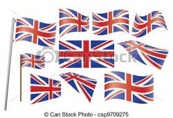 Union Jack clipart vector