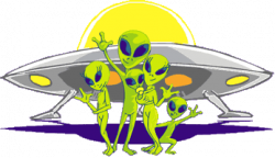 Saucer clipart alien invasion