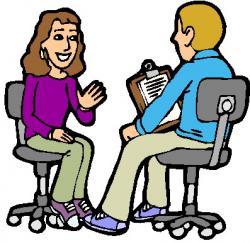 Journalist clipart research interview
