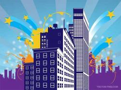 Urban clipart building background