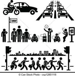 Urban clipart busy city