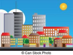 Urban clipart city neighborhood