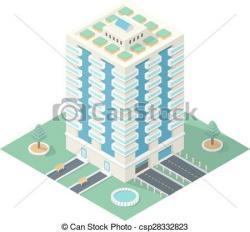 Urban clipart high rise building