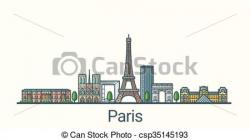 Urban clipart paris city
