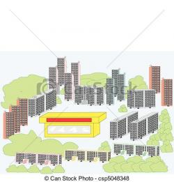 Area clipart residential area
