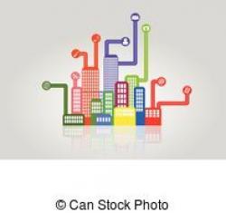 City clipart smart city