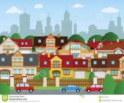 Urban clipart suburb