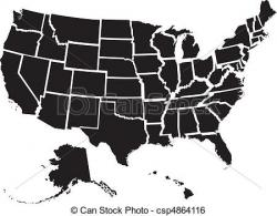 United States clipart vector