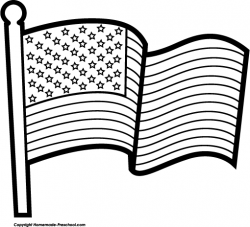 USA clipart black and white