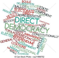 American Flag clipart direct democracy