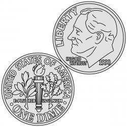 Coin clipart united states