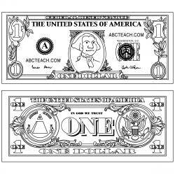 Coin clipart dollar bill