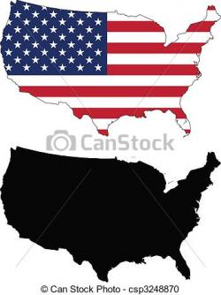 USA clipart icon vector