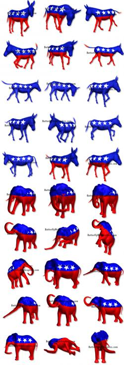 Political clipart democrat donkey
