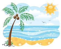 Sandy Beach clipart palm tree beach