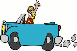 Departure clipart fast car