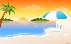 Seashore clipart sunset