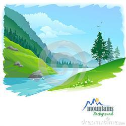 River Landscape clipart valley