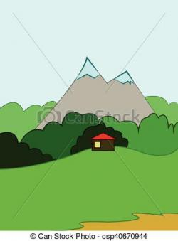 Valley clipart hill mountain