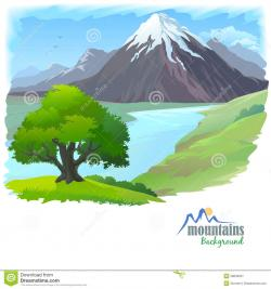 Himalaya clipart mountain river