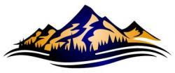 Summit clipart mountain range