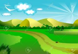 Pasture clipart natural background