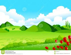 Valley clipart rolling hills