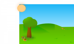 Valley clipart sky grass background