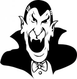 Dracula clipart black and white