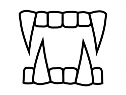 Fangs clipart black and white